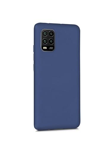 Microsonic Matte Silicone Xiaomi Mi 10 Lite Zoom Kılıf Lacivert